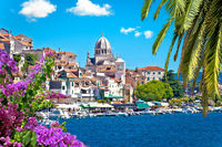 UNESCO town of Sibenik architecture and coastline view
