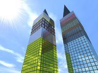 Two fantastic skyscrapers