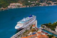 Cruise liner in Kotor Port - Montenegro