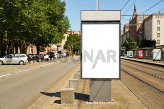 City Light Poster (CLP) Mock-Up Template an Straße