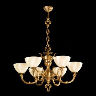 Vintage chandelier isolated on black