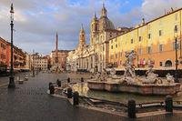Morning in Rome. Piazza Navona