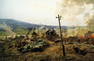 Original US Panzer im Korea Krieg Diorama
