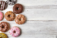 donuts on a wooden background
