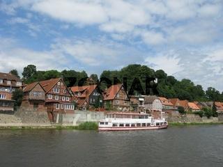 Lauenburger Altstadt von der Wasserseite
