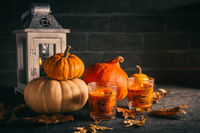 Still life for Thanksgiving with pumpkins