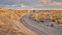 dirt sandy road in a desert