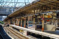 Image of Yokohama Station with no people