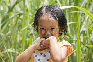 Kleines vietnamesisches Mädchen, Porträt Vietnam,Asien
