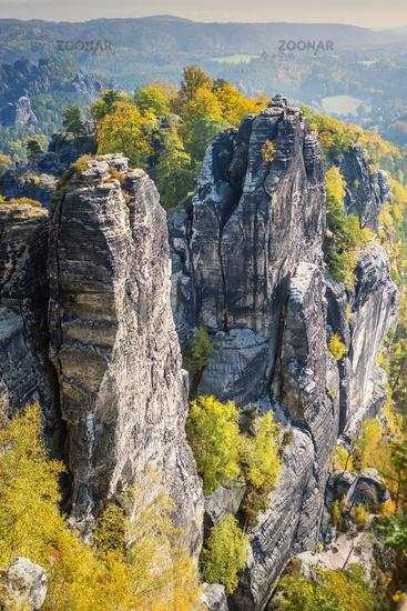 Rocks in Saxon Switzerland Germany