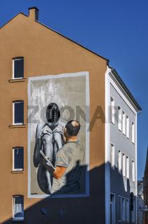 Malerei auf der Giebelwand