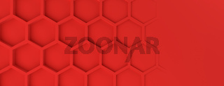Abstract modern red homeycomb background