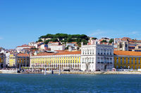 Landscape of Lisbon, square of commerce