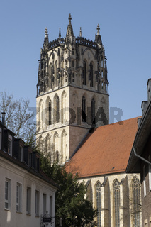 Liebfrauen-Ueberwasser Kirche, Muenster, Westfalen, Deutschland, Europa