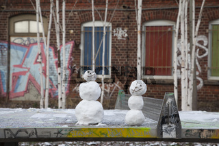 Schneemänner - Streetart