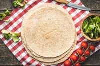 Whole grain tortilla wraps