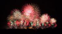 Fireworks in Carcassonne, 14 july 2012, France