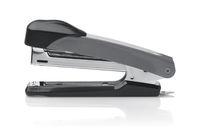 Side view of grey metal office stapler