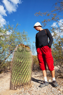 Cactus and man
