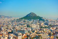 Athens city. and Mount Lycabettus