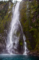 Magnificent cliff of Milford Sound fjord