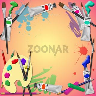 Art Equipment Background