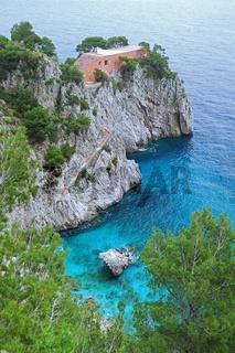 Villa Malaparte auf der Insel Capri in Italien