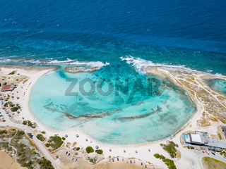 Amazing Baby Beach and coast on Aruba, Caribbean, white beach with blue ocean tropical beach
