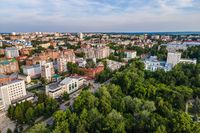 View of the central street of Tomsk from a height