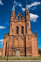 kyritz, deutschland - 03.06.2020 - pfarrkirche st. marien