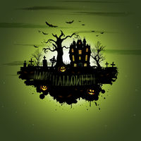 Multiple orange Halloween banners and backgrounds