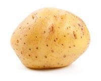 Organic Raw Potato Isolated On White Background
