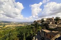 Todi Umbria Italy. Cityscape