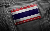 Tag on dark clothing in the form of the flag of the Thailand