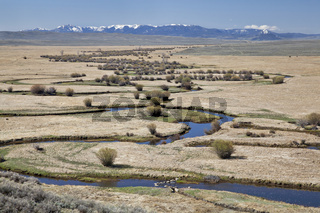 river meanders in North Park, Colorado