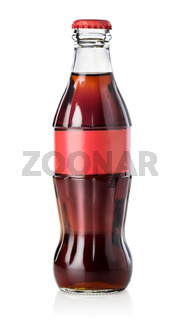 Glass bottle of cola