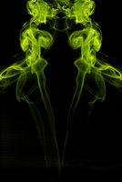 gelber rauch gespiegelt