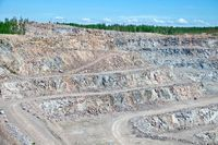 Open pit with gravel digging