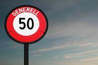 Verkehrsschild Geschwindigkeitsbegrenzung 50