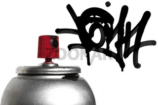 Graffiti spray paint can