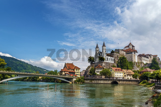 View of Aarburg Castle, Switzerland