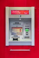 Filiale der Sparkasse Allgäu in Kempten mit EC- und Geldautomat