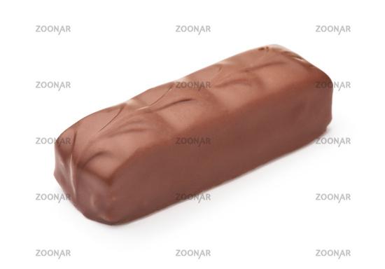 Unwrapped chocolate bar