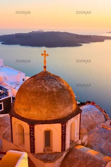 Greek church in Santorini