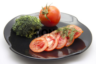 Frische Tomaten mit Dill