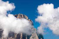 Gipfel des Langkofel, Sassolungo vom Groedner Joch, Suedtirol