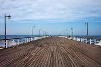 Pier in Jastiarnia on Hel Peninsula in Poland