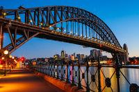 Sydney Harbour Bridge At Dusk in Australia