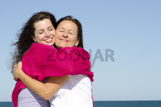 Happy family mother and daughter