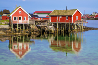 Norwegian fishing huts
